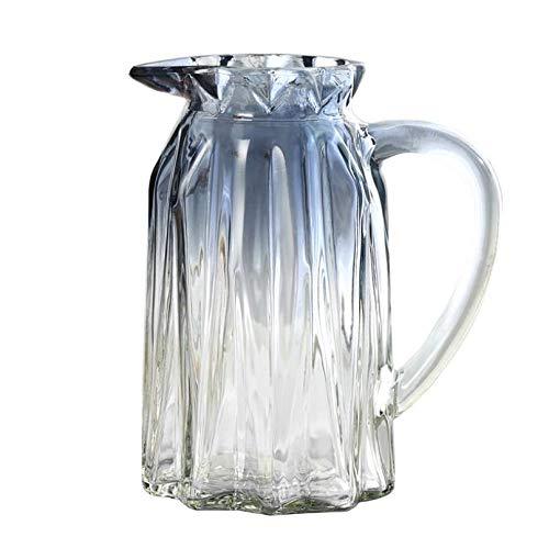 LAMEIDA Jarrón de flores de cristal gris degradado con forma de taza de cristal transparente, maceta terrario contenedor de flores para decoración del hogar