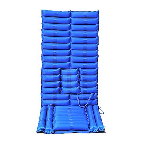 Yongqin Cojín Antiescaras Colchón De Aire Antiescaras Cojín De Aire con Microagujeros para Ancianos / Discapacitados Prevención del Acné Tratamiento del Acné, Azul, 195X90Cm