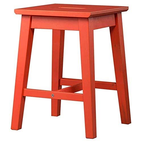 XHCP Hocker für die Küchentheke Leiterhocker Massivholzgriff Hocker Barhocker Freizeit-Tritthocker 3 Farben 2 Größen Barhocker (Farbe: A, Größe: 32x32x43cm)