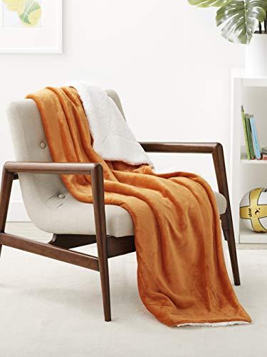 manta naranja fabricante Amazon Basics