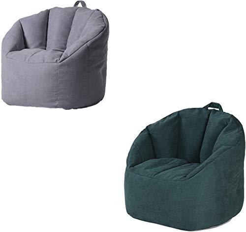 xcxc Stuffable Zipper Sitzsack Ersatzbezug für Kinder und Erwachsene ohne Füllung, kann Toysultra Soft Premium Sitzsack Stuhl leicht zu reinigen, C, 78 * 68 * 60cm