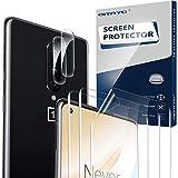 QITAYO Kamera Panzerglas+Schutzfolie für Oneplus 8, Elastische TPU Folie Bildschirmschutzfolie für Oneplus 8, Unterstützen Fingerabdruck-ID, Hoch Transparenz (2+3 Stück)