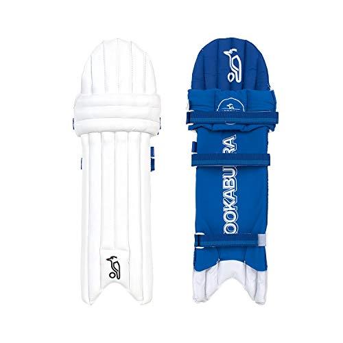 KOOKABURRA Jungen 2020 Pace 5.2 Batting Pads Ambi-Junior Schlagpolster, weiß/blau, Slim Fit