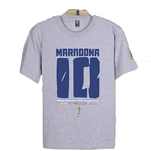 Dean es Maradona Camiseta Hombres Maradona clásico fútbol héroes Argentina Maradona Camiseta-Grey-S