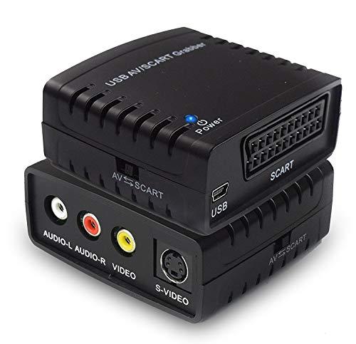Rybozen Convertidor de Captura de vídeo USB, Scart VHS a