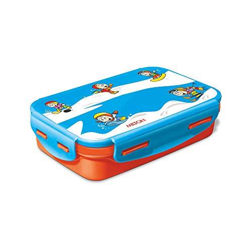 Milton Steely Deluxe Mini Inner Steel Kids Tiffin Box, orange Steel