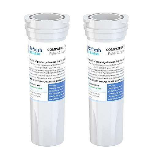 Refresh Ersatz-Kühlschrank-Wasserfilter für Fisher & Paykel 836848, 836860, E522B, PS2067635, RF90A180DU, EFF-6017A, E402B, E442B, SUPCO WF296 (2 Stück)