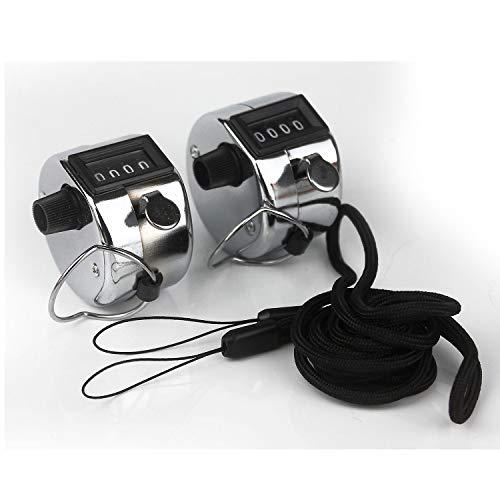 Ytian 2 Stücke Handzähler Zähler Counter Klicker Druckzähler Zählwerk schrittzähler von 0-9999
