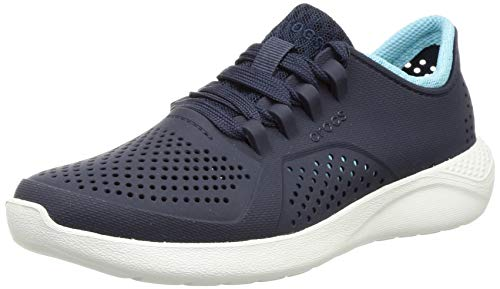 Crocs womens Literide Pacer Sneaker, Navy/Ice Blue, 8 US