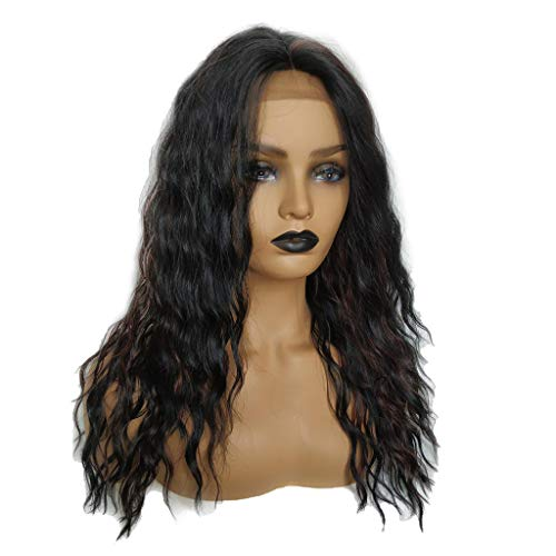 GreatFun Or Perruque 16 Pouces Courte Bob Lace Front Perruque sans Danger Cheveux synth/étiques Naturel Cheveux raides pour Les Femmes Cosplay Party Masquerade