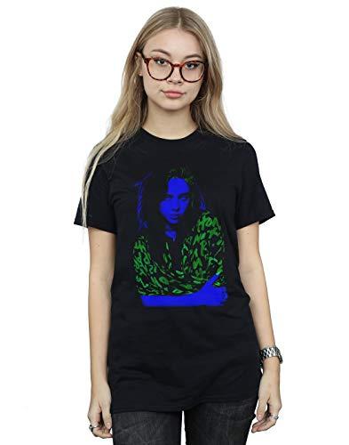 Absolute Cult Billie Eilish Femme Neon Backlit Petit Ami Fit T-Shirt Noir Small