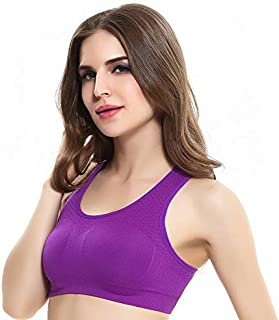 BEESCLOVER Professional Sports Bra Running Fitness Yoga Summer Gym Without Trace Quick-Drying Solid Color Girl Full Cup Vest Underwear
