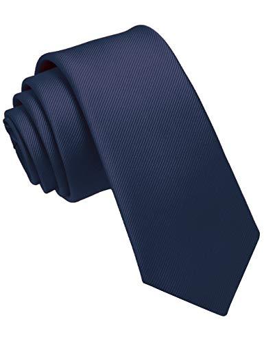 JEMYGINS Cravate Homme Bleu Marine en Soie 6CM Étroit Slim...