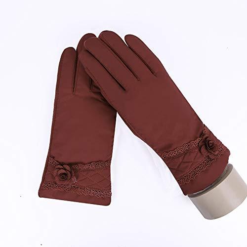 Guantes hembra Mujer de invierno suave de felpa guantes calientes de conducción...