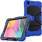 TECHGEAR G-SHOCK Case Fits New Samsung Galaxy Tab A 8.0' 2019 (SM-T290 / SM-T295) Tough Rugged HEAVY DUTY Armour Shockproof Survival Case with Stand - Kids Schools Builders Workman Case - BLUE