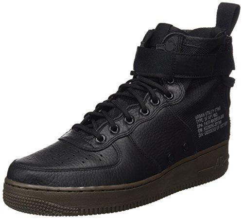 Nike Mens SF AF1 Mid Basketball Shoe Black/Dark-hazel 10 D(M) US