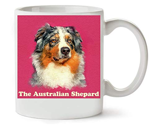George Graphics The Australian Shepard Dog Artwork koffie- en theekop