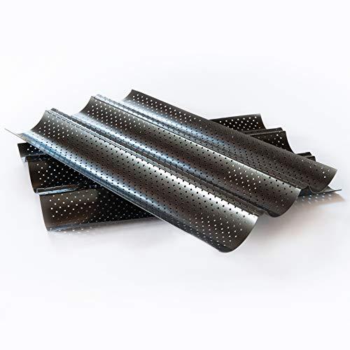 Baguette-Blech antihaft-beschichtet Baguette backen mit perforierten Backblech Ofenblech Baguette Form