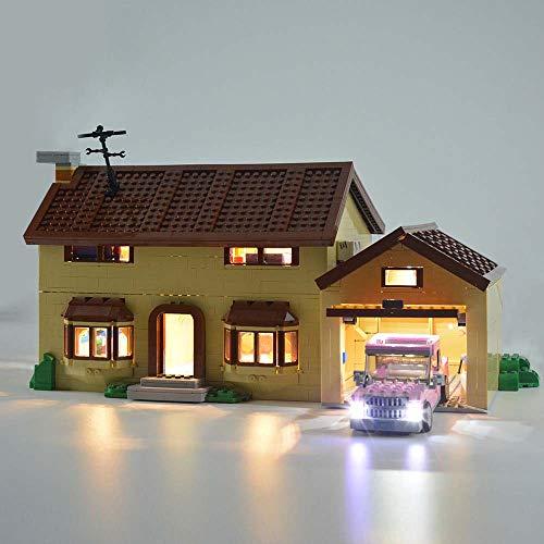 TZH Juego De Luces USB para El Modelo De Bloques De Construcción (Simpson House), Modelo De Bricolaje, Kit De Iluminación LED Compatible con Lego 71006 (Modelo No Incluido)