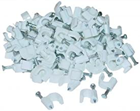 Cable-Clip White RG6 - 100 Pcs Per Bag
