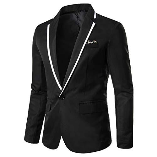 WULFUL Men's Suit Slim Fit One Button 3-Piece Suit Blazer Dress Business Wedding Party Jacket Vest & Pants Light Grey
