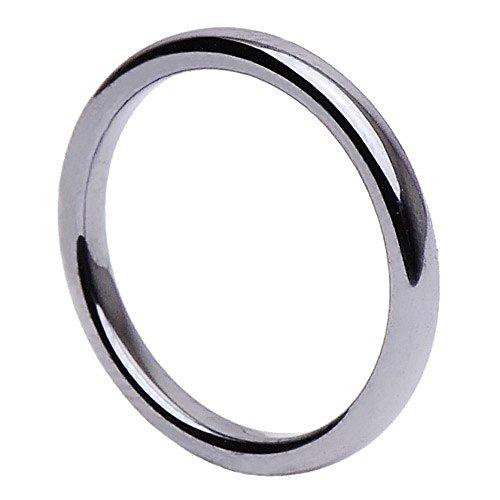 Schmaler Ring aus Hämatit glatt grau dunkelgrau Hämatitring Fingerring Steinring, Ringgröße:Innenumfang 54mm ~ Ø17.2mm