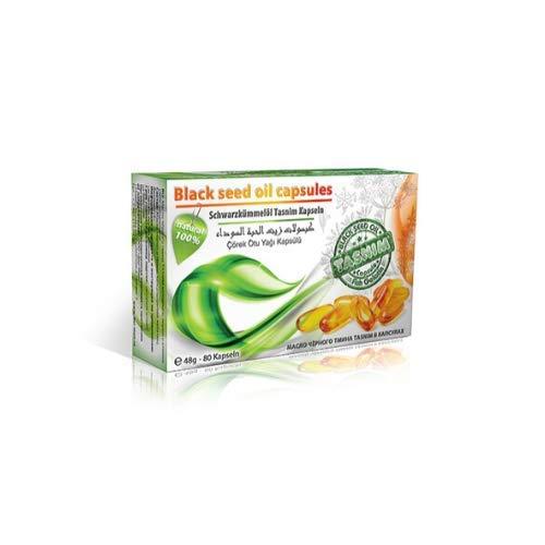 Schwarzkümmelöl Kapseln Tasnim kaltgepresst aus äthiopischen Samen 80 Kapseln Fischgelatine