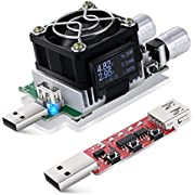 USB Power Meter, Eversame 35W Adjustable Constant Current Electronic USB Load Tester Power Discharge Resistor With QC2.0/3.0 Trigger–For Testing Chargers And Cables/The Capacity of Power Bank