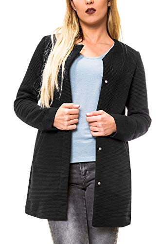 ONLY Damen Übergangsmantel Kurzmantel Leichte Jacke Chic Business Coat (M, Black)