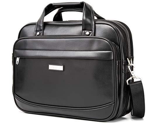 BOSS Aron Maletín de cuero Bolsa de oficina Para los Hombres Clásico Cartera Negocio Bolso Clásico Para MacBook de 15 pulgadas