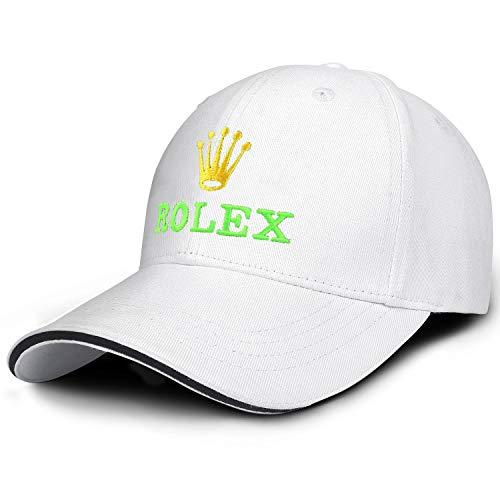 Baseballmützen für Herren, Motiv: Väter, mit Rolex-Uhren-Logo, Hiphop, Snapback, Baseballmützen - - Einheitsgröße