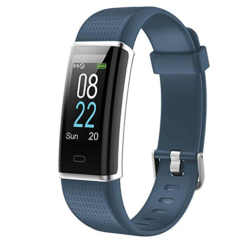 Muzili Smart Band IP68 Waterproof Fitness Tracker with Heart Rate Sleep Monitor 14 Sport Mode Activity Tracker Color Screen Pedometers Calorie Counter Call Messages Reminder for Men Women (Gray)