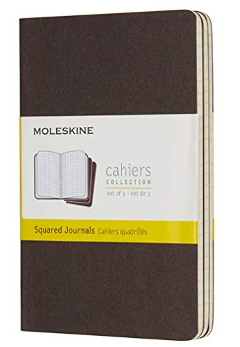 Moleskine Coffee Brown Pocket Squared Cahier Journal (Set of 3) (CAHIERS)