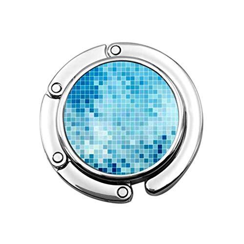 Gancho para Monedero Plegable Abstracto Cuadrado Pixel Mosaico Fondo Bolso Plegable Colgador...