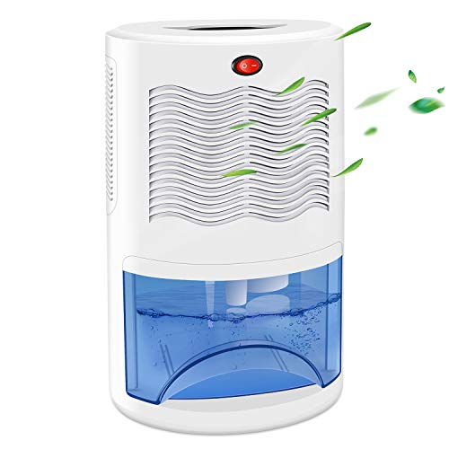 COSVII Upgrade Dehumidifier for 480 Sq.Ft Home Removes Moisture & Humidity (23-34oz/Day), Quiet Portable Electric Small Dehumidifiers with 2000ml (68oz) Water Tank for Basement Bathroom Bedroom Closet RV