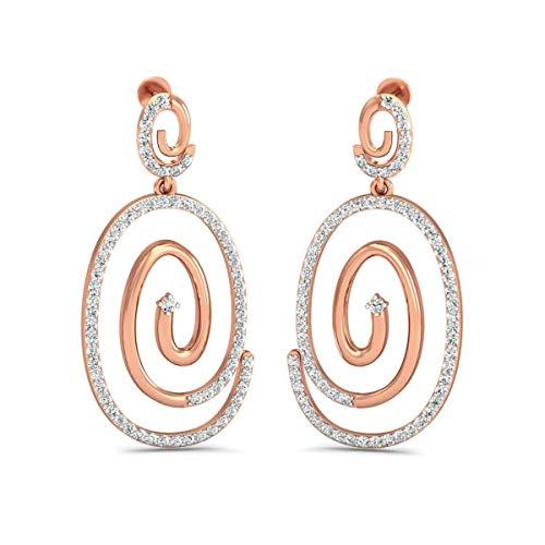 VVS Circle Style Pendientes 1.48 Ctw Diamante Natural Con 18K Blanco/Amarillo/Oro Rosa Pendientes Estilo Gota Con Certificado IGI