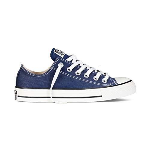 Converse Chuck Taylor All Star - Zapatillas de lona unisex, con pegatina de 7 km/h, color Azul, talla 36 EU