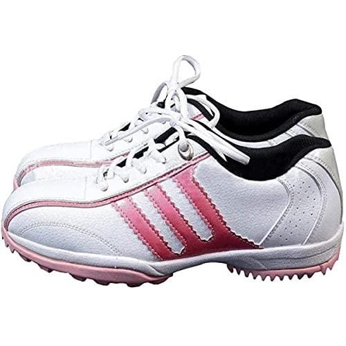 HANHJ VIIPOO Zapatos De Golf De Ocio Antideslizantes Impermeables para Mujer Zapatos Deportivos Transpirables Ligeros Zapatos De Correr Resistentes Al Desgaste,Pink-36 EU