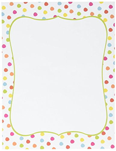 """Great Papers! Circus Dots Letterhead, 8.5""""x11"""", 80 Count (2012410)"""