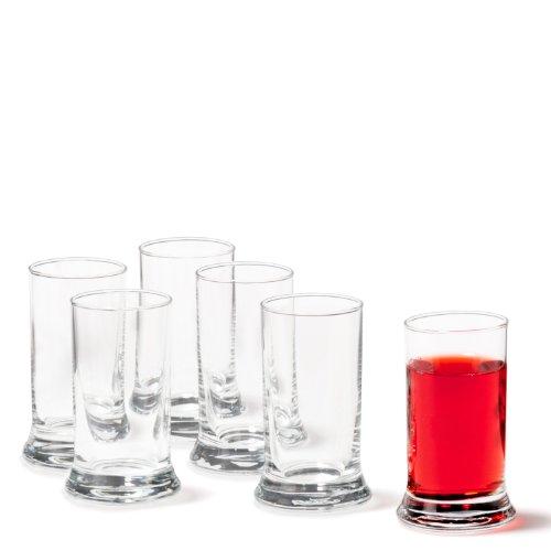 Leonardo K18 Schnaps-Gläser, 6er Set, spülmaschinengeeignete Shot-Gläser, Schnaps-Becher aus Glas, Stamper, Gläser-Set, 6 cl, 60 ml, 035401