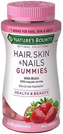 Vitamin Biotin Optimal Solutions Hair 2 Ranking TOP1 Gummies Seattle Mall and Nails Skin