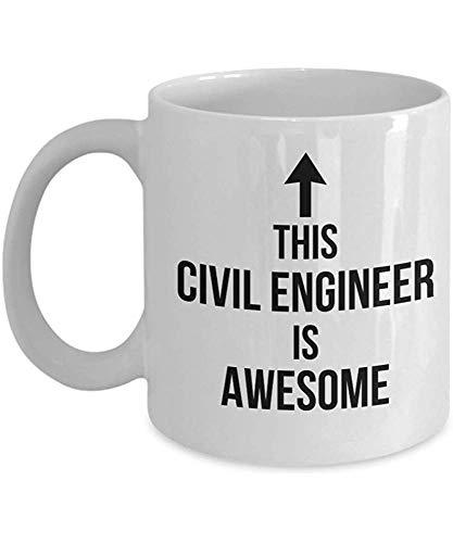 Este ingeniero civil es impresionante Taza de café Regalo de amigo de ingeniería Taza de estudiante