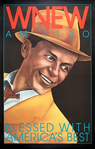 Póster de Frank Sinatra de Hickson de 1973 vintage WNEW Frank Sinatra