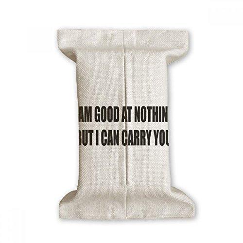 DIYthinker Joking Zelf Beschrijving Tissue Paper Cover Katoen Linnen Houder Opslag Container Gift