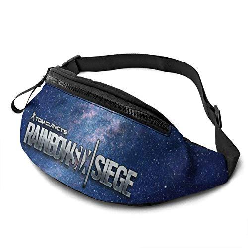 NHCY Rainbow-Six-Siege Riñonera Casual Fitness Belt Bag Pack Bolsa de Bolsillo para Hombres, Mujeres, niños, Adolescentes