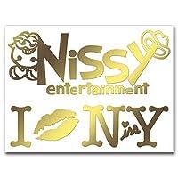 カッティングステッカーL 『Nissy Entertainment』 金 106