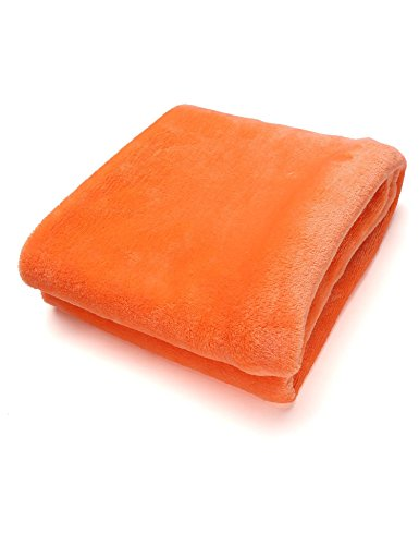 Tiowea warme dikke flanel sofa Throw blankets op bed Home sprei 50X70CM oranje
