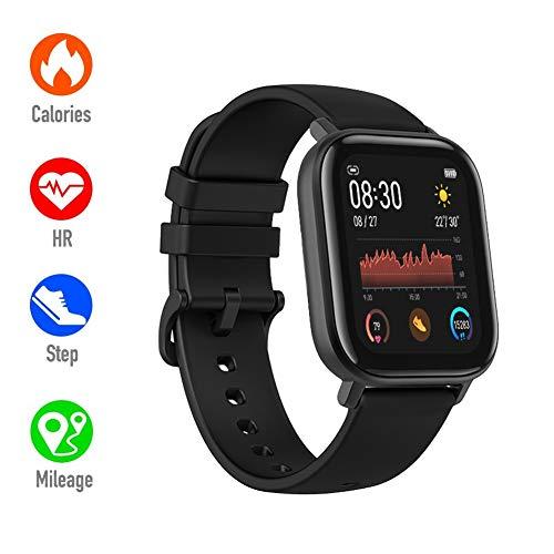 FJLOVE Smartwatch Impermeable Reloj Inteligente con Medición De Temperatura, Pulsera Actividad para Deporte con Podómetro Smartwatch Mujer Hombre Niños para Xiaomi Huaweii Teléfono,Negro
