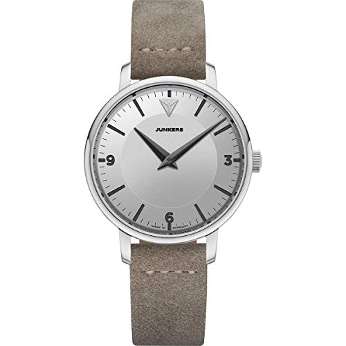 Junkers Therese Damen Analog Quarz Uhr Lederarmband Vintage Silber 9.01.01.03
