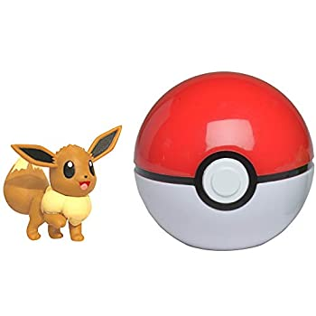 Pokemon Clip  N  Go Set - Features 2-Inch Eevee Figure & Poke Ball - Perfect for Any Trainer